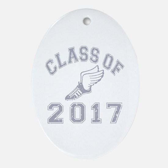 Class Of 2017 Track & Field Ornament (Oval)