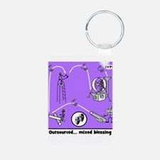 Outsource Humor Art Keychains
