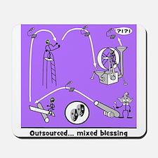 Outsource Humor Art Mousepad