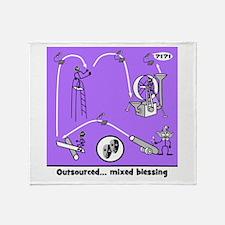 Outsource Humor Art Throw Blanket