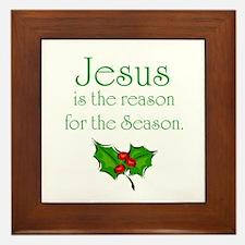 Cute Jesus Framed Tile