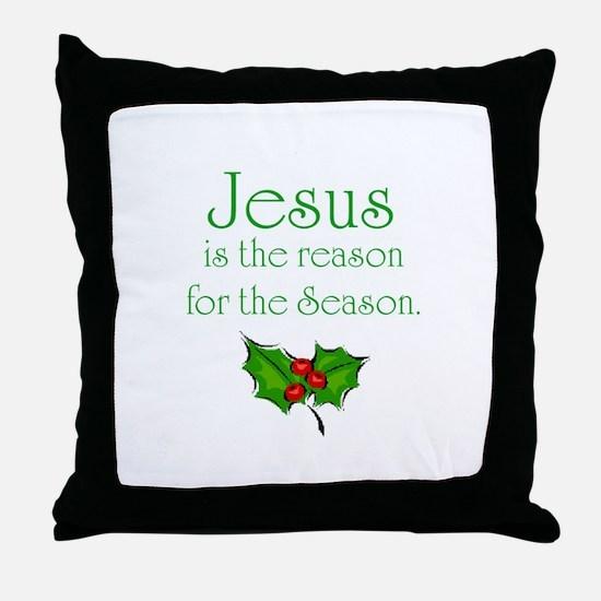 Cute Jesus is reason for season Throw Pillow