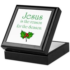 Cute Jesus is reason for season Keepsake Box
