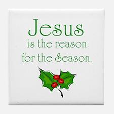 Cute Jesus is the reason Tile Coaster