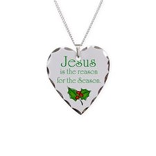 Cute Merry christmas Necklace Heart Charm