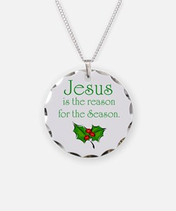 Funny Jesus Necklace Circle Charm