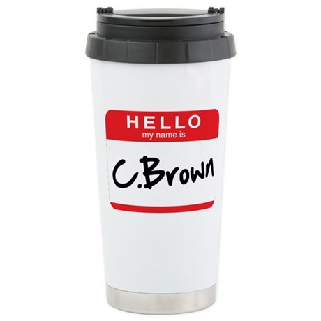 C.Brown Stainless Steel Travel Mug