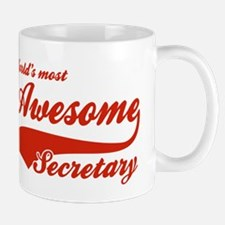 World's Most Awesome Secretary Mug