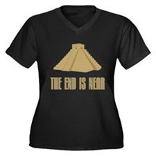The End is Near Women's Plus Size V-Neck Dark T-Sh