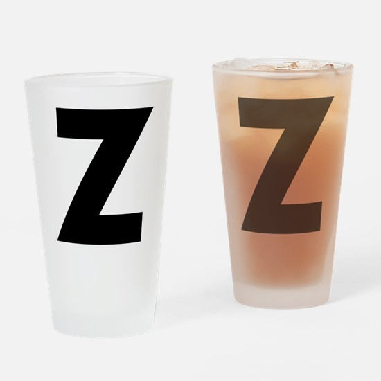 Letter Z Drinking Glass
