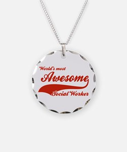 World's Most Awesome Social worker Necklace