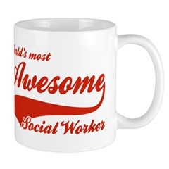World's Most Awesome Social worker Mug