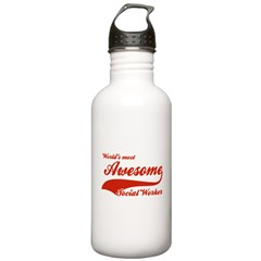 World's Most Awesome Social worker Water Bottle