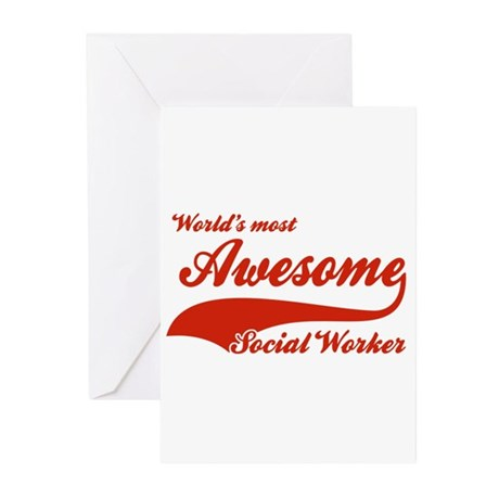 World's Most Awesome Social worker Greeting Cards