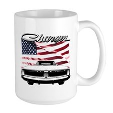 1969 Charger USA flag front Mugs