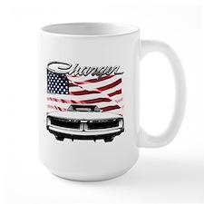 1969 Charger USA flag front Mugs
