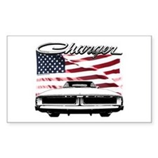 1969 Charger USA flag front Decal