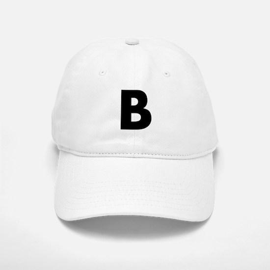 Letter B Baseball Baseball Cap