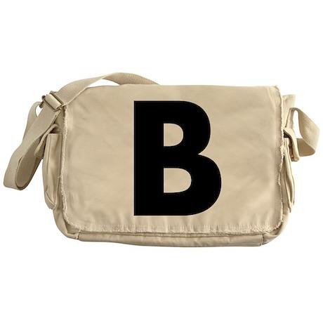 Letter B Messenger Bag