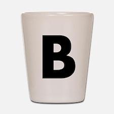 Letter B Shot Glass