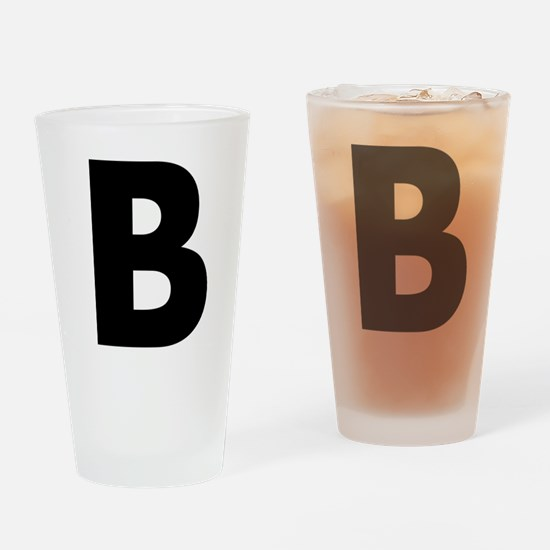 Letter B Drinking Glass