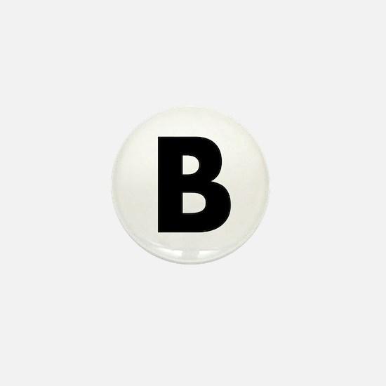 Letter B Mini Button
