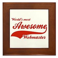 World's Most Awesome Webmaster Framed Tile