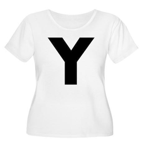 Letter Y Women's Plus Size Scoop Neck T-Shirt
