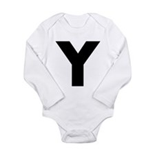Letter Y Long Sleeve Infant Bodysuit
