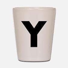 Letter Y Shot Glass