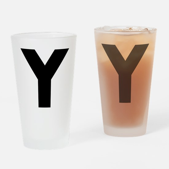 Letter Y Drinking Glass