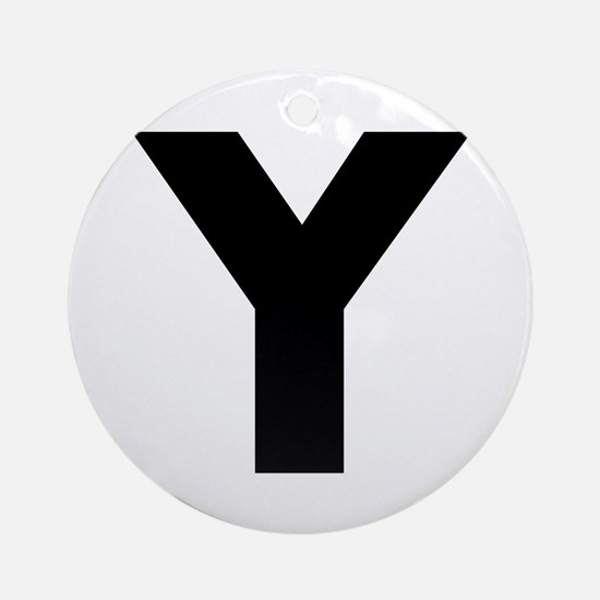 Letter Y Ornament (Round)