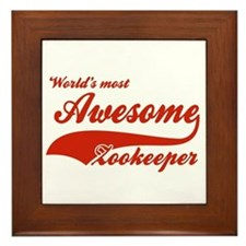 World's Most Awesome Zookeeper Framed Tile