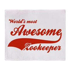 World's Most Awesome Zookeeper Throw Blanket