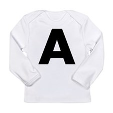 Letter A Long Sleeve Infant T-Shirt