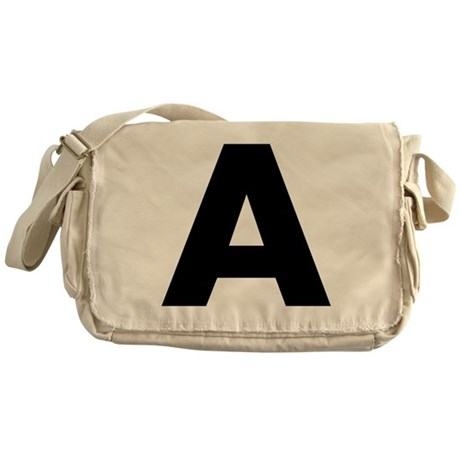 Letter A Messenger Bag