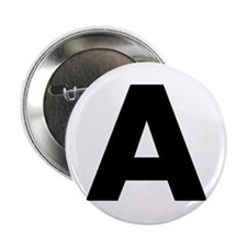 "Letter A 2.25"" Button (100 pack)"