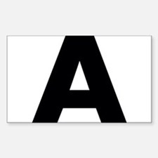 Letter A Sticker (Rectangle)