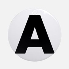 Letter A Ornament (Round)