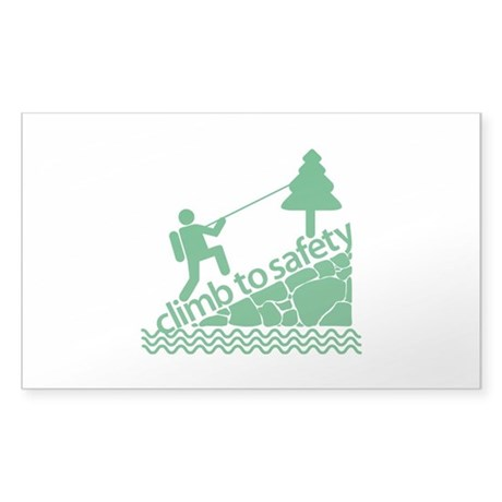 Don't Panic Climb to Safety Sticker (Rectangle)