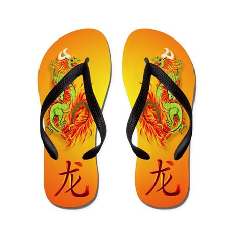 Year Of The Dragon Flip Flops