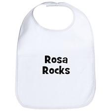 Rosa Rocks Bib