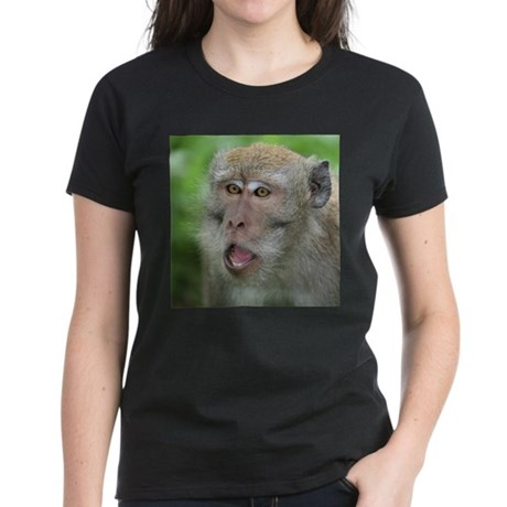 Crab-eating Macaque Monkey Women's Dark T-Shirt