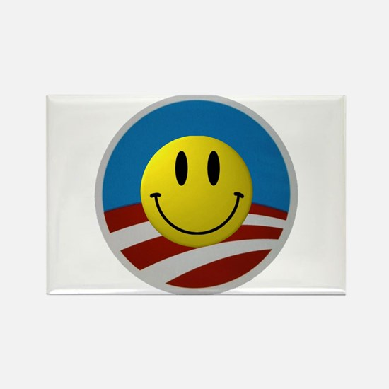 Obama Smiley Logo Rectangle Magnet