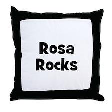 Rosa Rocks Throw Pillow