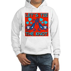 Let's Tie The Knot Hot Red Hoodie