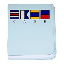 nautical cade baby blanket