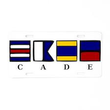 nautical cade Aluminum License Plate