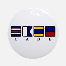 nautical cade Ornament (Round)