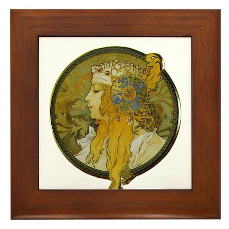 Byzantine Blonde Head Framed Tile